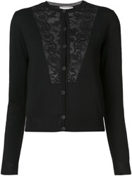 Lanvin Lace Detail Cardigan Black