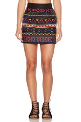 Sam Edelman Beaded Mini Skirt Black