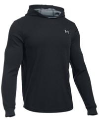 Under Armour Men's Waffle Thermal Hooded Shirt Black