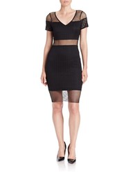 Guess Mesh Hem Pencil Skirt Black