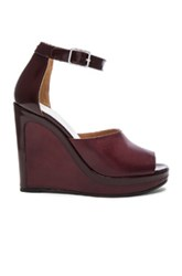 Maison Martin Margiela Ankle Strap Wedges In Red