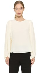 Giambattista Valli Sable Long Sleeve Blouse White Black