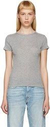 Helmut Lang Grey Cotton And Cashmere T Shirt