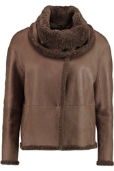 Brunello Cucinelli Shearling Jacket Brown