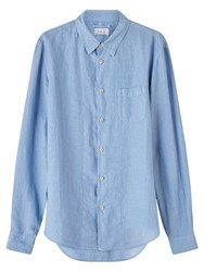 Jigsaw Linen Garment Dye Slim Shirt Chambray