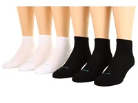 Hue Air Cushion 3 Mini Crew 6 Pack Black 1 White Women's Low Cut Socks Shoes