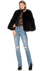 Eaves Delilah Ostrich Feather Jacket Black