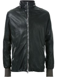 Giorgio Brato Zip Detail Leather Jacket Green