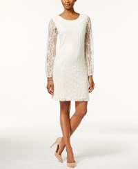 Styleandco. Style And Co. Petite Lace Shift Dress Only At Macy's Vintage Cream