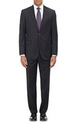 Barneys New York Two Button Suit Black Size 36 Regular