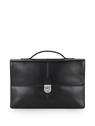 Cole Haan Leather Briefcase Black