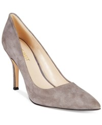 Nine West Flax Pointed Toe Pumps Women's Shoes Gray Suede