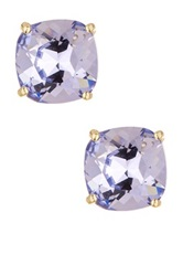 Candela Province Lavender Swarovski Crystal Stud Earrings Purple