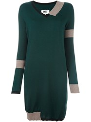Maison Martin Margiela Mm6 V Neck Sweater Dress Green