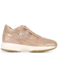 Hogan 'Interactive' Sneakers Nude Neutrals