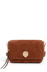 Louise Et Cie 'Small Alis' Leather Crossbody Bag Brown Brentwood