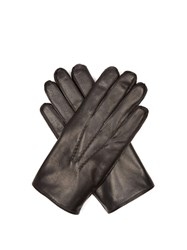 Dents Lumley Fur Lined Leather Gloves Black