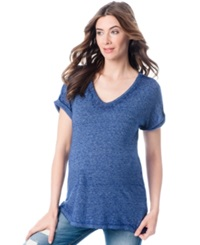 A Pea In The Pod Maternity Jersey Knit Dolman Tee Mulberry