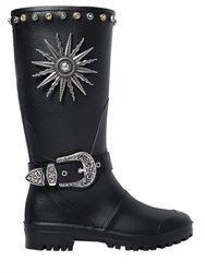 Fausto Puglisi 30Mm Studded Rubber Boots