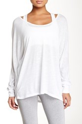 Zella Scoop Neck Dolman Sleeve Tee White