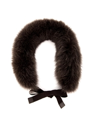 'S Max Mara Cerson Fox Fur Collar