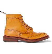 Tricker's Stow Leather Brogue Boots Brown