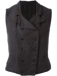 Geoffrey B. Small Double Breasted Waistcoat Blue