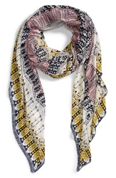 Sole Society Geometric Print Scarf Multi