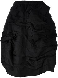 Comme Des Garcons Elastic Waistband Full Skirt Black