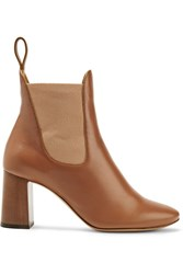 Chloe Leather Ankle Boots Brown
