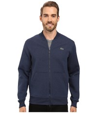 Lacoste L Ve Long Sleeve Double Face Hybrid Bomber Sweatshirt Midnight Blue Chine Men's Sweatshirt