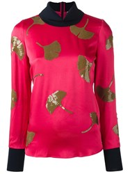 3.1 Phillip Lim Sequin Ginkgo Top Pink Purple