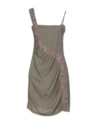 Guess By Marciano Dresses Short Dresses Women Military Green