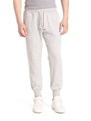 Brunello Cucinelli Cashmere Blend Banded Sweatpants Light Grey