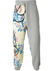 Moschino Floral Print Track Pant Grey