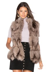 Jocelyn Fox Sections Vest Taupe