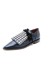 Marc By Marc Jacobs Viv Studded Oxfords Blue