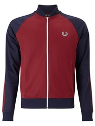 Fred Perry Bomber Track Jacket Maroon