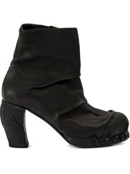 Masnada Distressed Ankle Boots Black