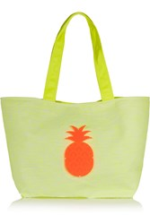 Koku Ioli Appliqued Neon Canvas Tote Yellow