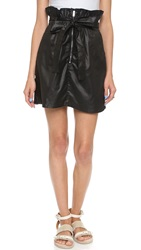 7 For All Mankind Paper Bag Waist Skirt Black