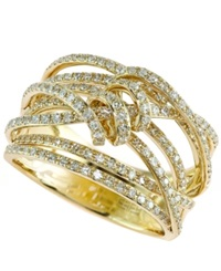 Effy Collection D'oro By Effy Diamond Ribbon Wrap Ring 3 4 Ct. T.W. In 14K Gold