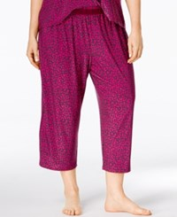 Alfani Plus Size Leopard Print Capri Pajama Pants Only At Macy's Exotic Leo