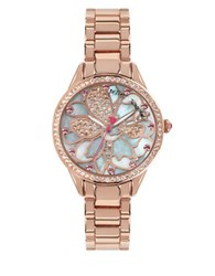 Betsey Johnson Rose Goldtone Layered Flower Dial Watch