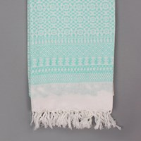 Mint Bohemia Embroidered Scarf