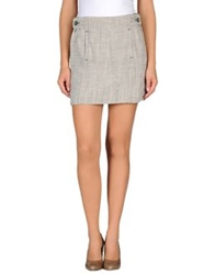 Aspesi Mini Skirts Light Grey