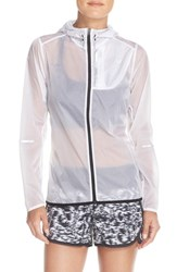 Women's New Balance 'Lite' Packable Windbreaker Jacket White