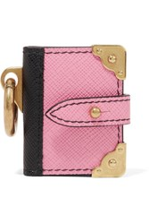 Prada Textured Leather Keychain Pink