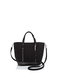 Vanessa Bruno Mini Sequin Canvas Tote Black