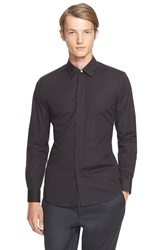 Marc Jacobs Extra Trim Fit Grosgrain Collar Shirt Black